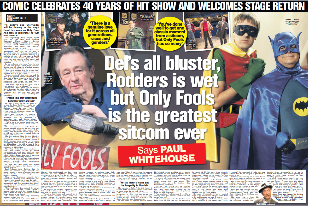 ONLY FOOLS AND HORSES IS BACK!